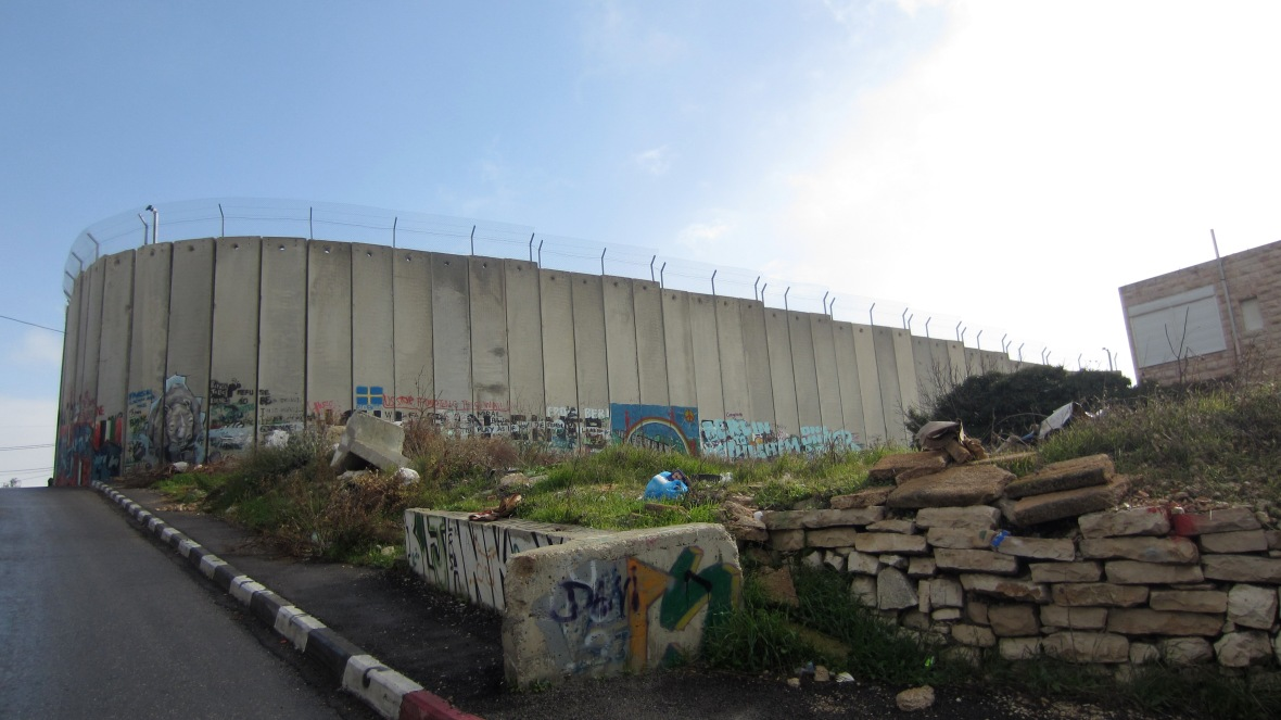 A part of the West Bank barrier in Bethlehem