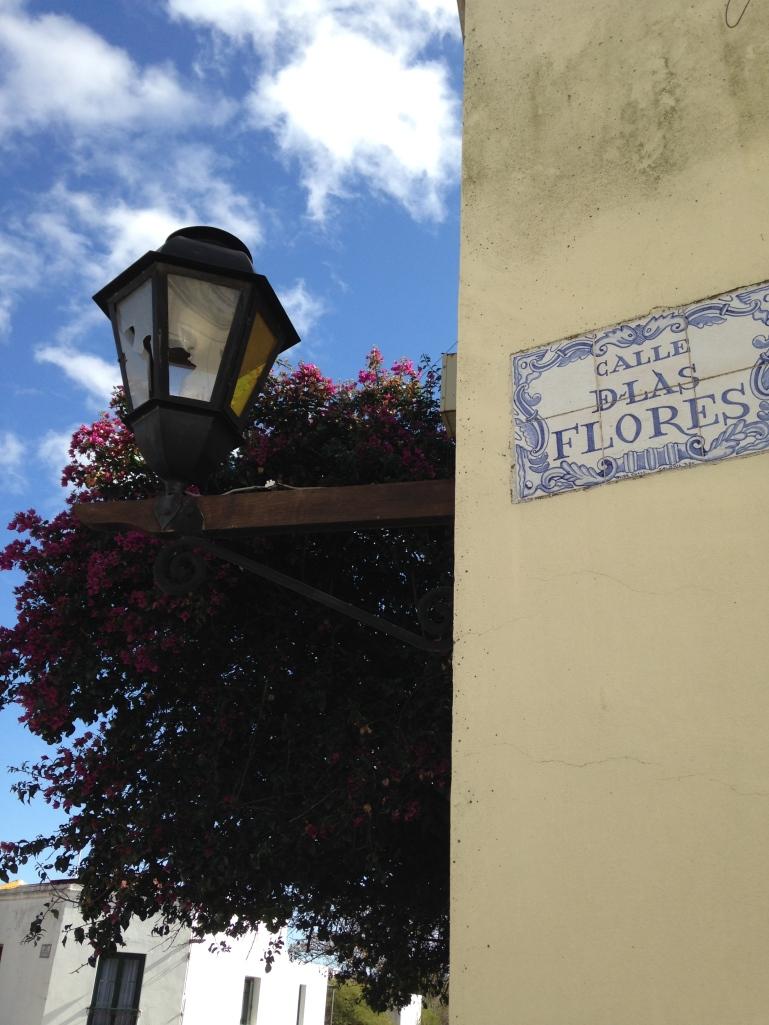 Street signs, Colonia del Sacramento, Uruguay